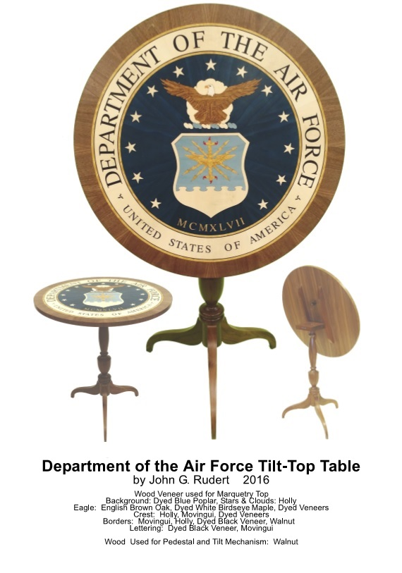 Handmade Air Force Table by Master Woodworker John Rudert